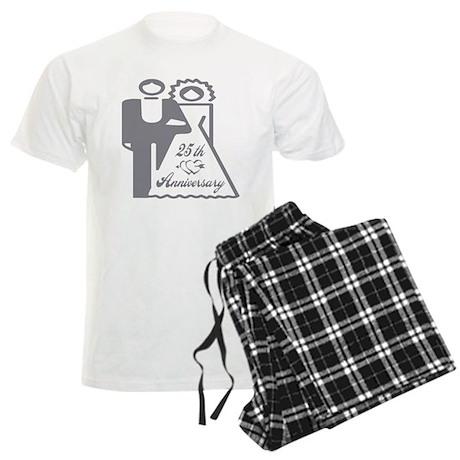 25th Wedding Anniversary Men's Light Pajamas
