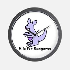 K is for Kangaroo Wall Clock