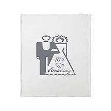 40th Wedding Anniversary Throw Blanket