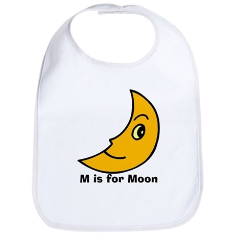 M is for Moon Bib