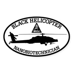 Black Helicopter Nanobiotechnician Decal