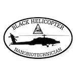Black Helicopter Nanobiotechnician Sticker