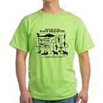 Black Helicopter Lifecycle Green T-Shirt