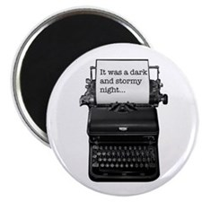Dark and stormy night... typewriter Magnet