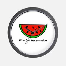 W is for Watermelon Wall Clock