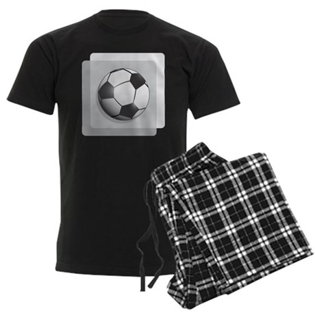 Soccer Ball Men's Dark Pajamas