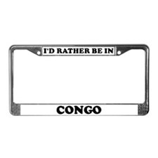 Rather be in Congo License Plate Frame