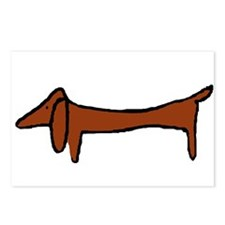 One Weiner Dog Postcards (Package of 8)