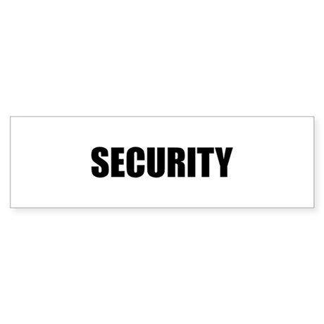 SECURITY Sticker (Bumper)