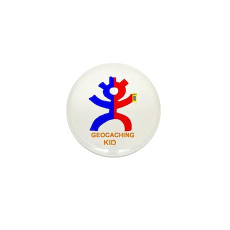 Geocaching Kid Mini Button
