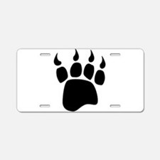 Bear paw Aluminum License Plate