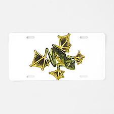 Flying Frog Aluminum License Plate