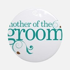 Mother of the Groom Swirl Ornament (Round)