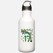 St. Patrick's Day March 17th Birthday Water Bottle