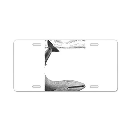 Whale Aluminum License Plate