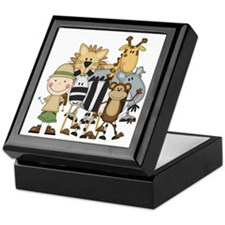 Boy on Safari Keepsake Box
