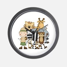 Boy on Safari Wall Clock