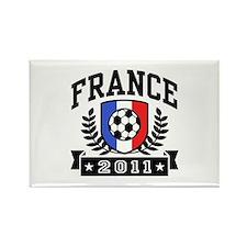 France Soccer 2011 Rectangle Magnet