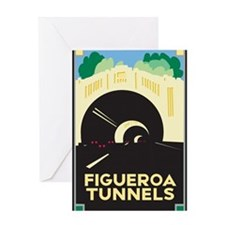 Figueroa Tunnels Greeting Card