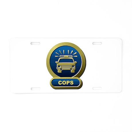 COPS Network Aluminum License Plate