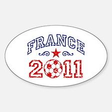 France Soccer 2011 Sticker (Oval)
