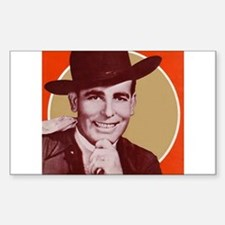 Bob Wills Classic Rectangle Decal