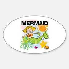 Blond Mermaid Decal