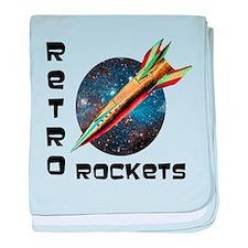 Retro Rockets baby blanket