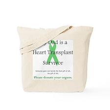 Dad Heart Transplant Tote Bag