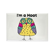 Yellow Owl I'm a Hoot Rectangle Magnet (10 pack)