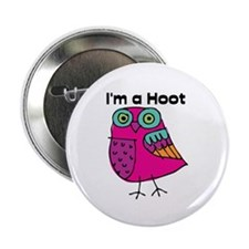 """Pink Owl I'm a Hoot 2.25"""" Button (100 pack)"""