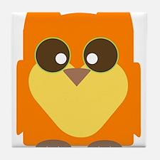 """""""Orange Owl"""" Tile Coaster"""