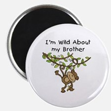 """Wild About My Brother 2.25"""" Magnet (10 pack)"""