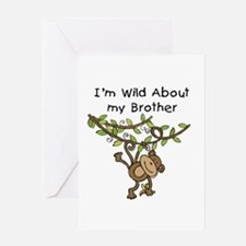 Wild About My Brother Greeting Card