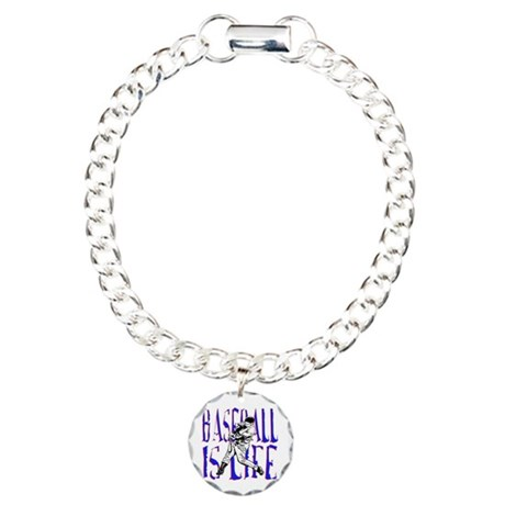 Baseball is Life Charm Bracelet, One Charm