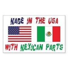 American Mexican Rectangle Decal