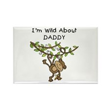 Wild About Daddy Rectangle Magnet