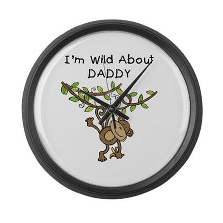 Wild About Daddy Large Wall Clock
