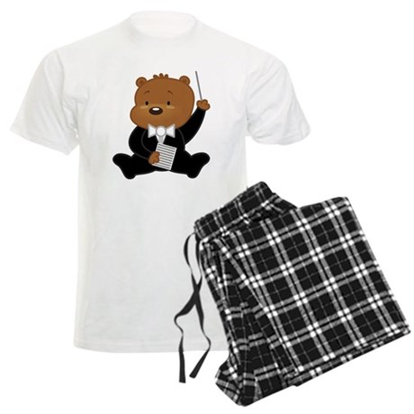 Music Conductor Bear Men's Light Pajamas