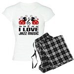 I Love Jazz Music Ladybug Women's Light Pajamas