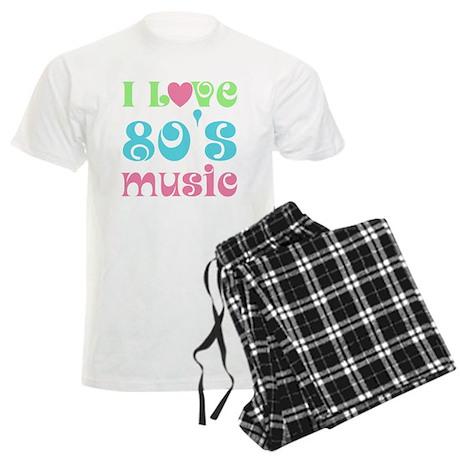 I Love 80's Music Men's Light Pajamas