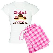 Funny Chocolate Flute Women's Light Pajamas