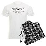 Funny Drummer Definition Men's Light Pajamas