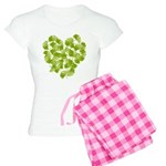 Ginkgo Leaf Heart Women's Light Pajamas
