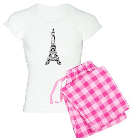 Eiffel Tower Women's Light Pajamas