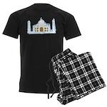 Taj Mahal Men's Dark Pajamas