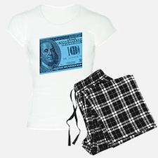 Blue Hundred Dollar Bill Pajamas