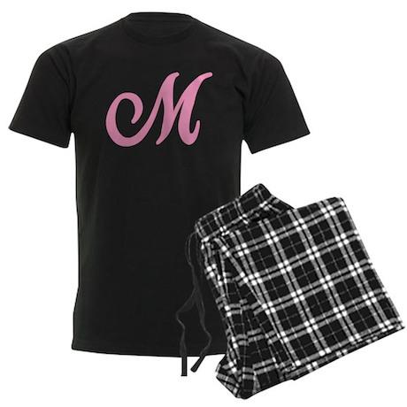 M Initial Men's Dark Pajamas