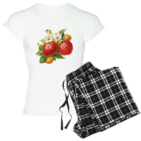 Retro Strawberry Women's Light Pajamas