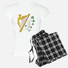 Lady Harp And Shamrocks Pajamas
